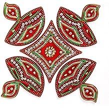 AMBA HANDICRAFT Rangoli / home decor/ Diwali / gift for home / interior handcrafted / floor stickers / wall stickers / wall decoration / Designer Stencil / new year gift / party.22 DESGIN (Design 3)