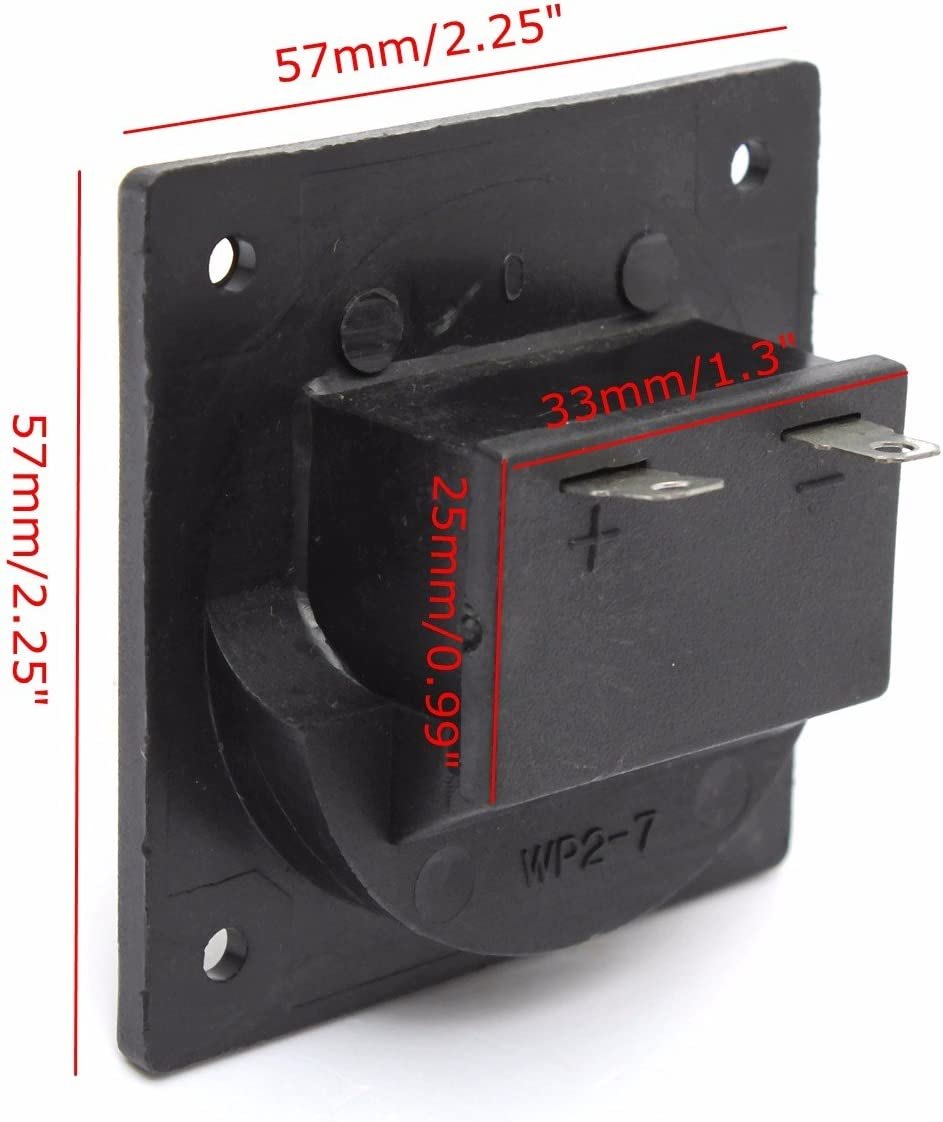 Subwoofer 2-Wire Way Square Speaker Box Sub Push Spring Terminal Clip Connector