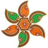 One Roof Store Acrylic Rangoli Set (12 cm x 11 cm x 3.2 cm, Set of 7)
