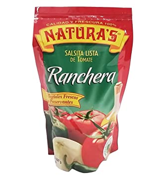 NATURAS Ranchero Sauce, Salsa, 8.0 oz, 6 Count