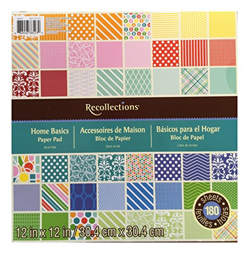 Recollections Paper Pad 12 X12 180 Sheets HOME (12x12 Patterned Paper)