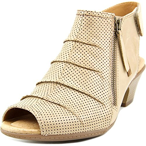 Price comparison product image Earth Women's Hydra Mid Heel Sandal, Light Pecan Soft Leather, US 8 M