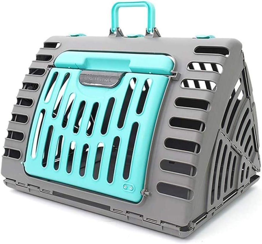 BZZBZZ Jaula Plegable portátil para Gatos Envío de Aire Permeable al Aire Protección Ambiental Triángulo Caja rígida de Viaje para Mascotas - Carga máxima 10 KG