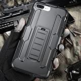 Cocomii Robot Armor iPhone 8 Plus/7 Plus Custodia Nuovo [Robusto] Fondina Clip da Cintura Cavalletto Antiurto Copertura [Militare Difensore] Case Paraurti for Apple iPhone 8 Plus/7 Plus (R.Black)