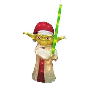 Star Wars 3 D Dessin Yoda Avec Lumiere Saber Allumer Chantier Art