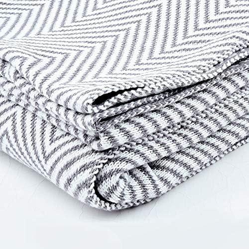 グレーの毛布、織毛布、軽量毛布、ニット毛布、ソファ毛布、フルサイズ毛布、綿毛布、大毛布