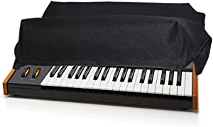 Dust Cover and Protector for MOOG SUB 37 / SUBSEQUENT 37 / LITTLE PHATTY/Stage II Synthesizer Keyboard [Antistatic, Water Resistant, Premium Black Fabric, Heavy Duty] by DigitalDeckCovers
