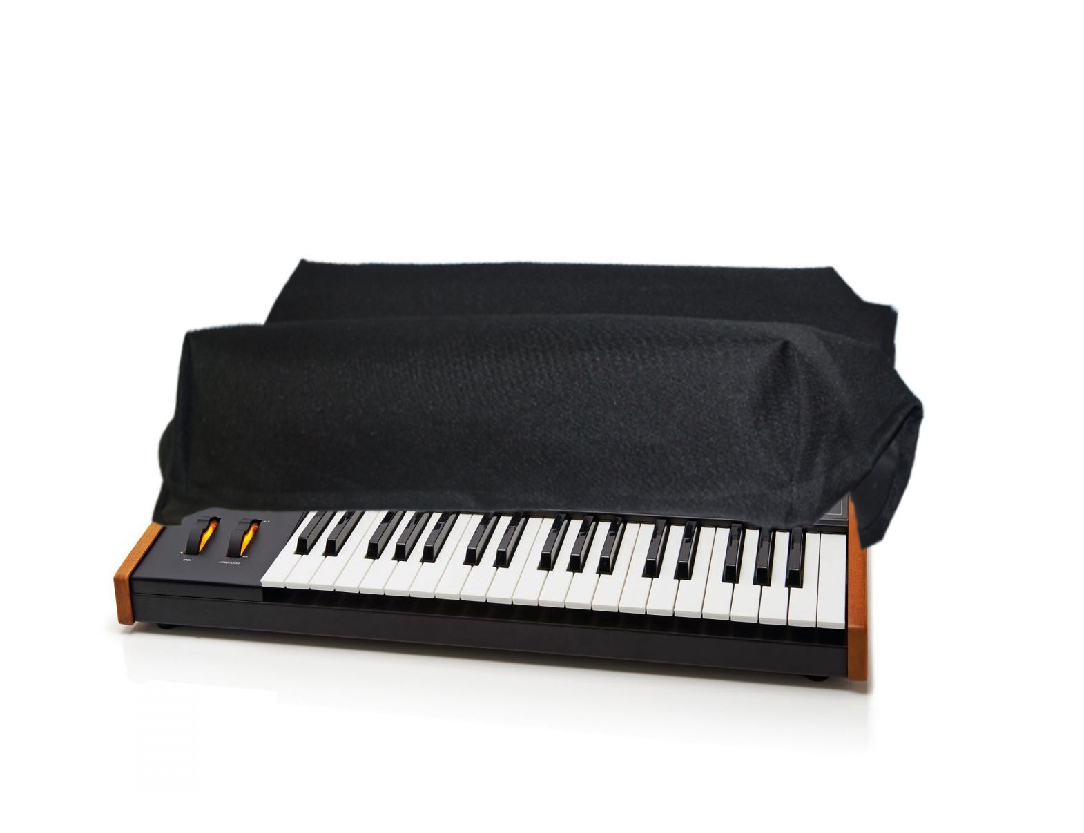 Dust Cover and Protector for MOOG SUB 37 / LITTLE PHATTY / Stage II Synthesizer Keyboard [Antistatic, Water Resistant, Premium Black Fabric, Heavy Duty] by DigitalDeckCovers