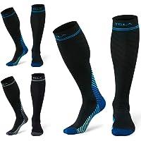TESLA Compression Socks (Pack of 3) Men & Women Graduated 20-30 MMGH Travel Medical Varicose Pregnancy Swelling