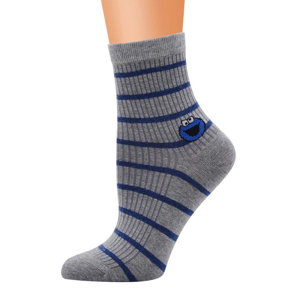 Pausseo Women Men's Cute Horizontal Love Pattern Lady Socks Tube Socks Striped Socks Lady Cartoon Breathable Deodorization Anti-Slip Sports Ourdoor Casual Unisex Floor Medium Stockings Sweat