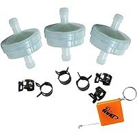 HURI 3 stuks brandstoffilters vervangen 4112/394358 394358S benzinefilter 75 micron Toro 56-6360 AM38708