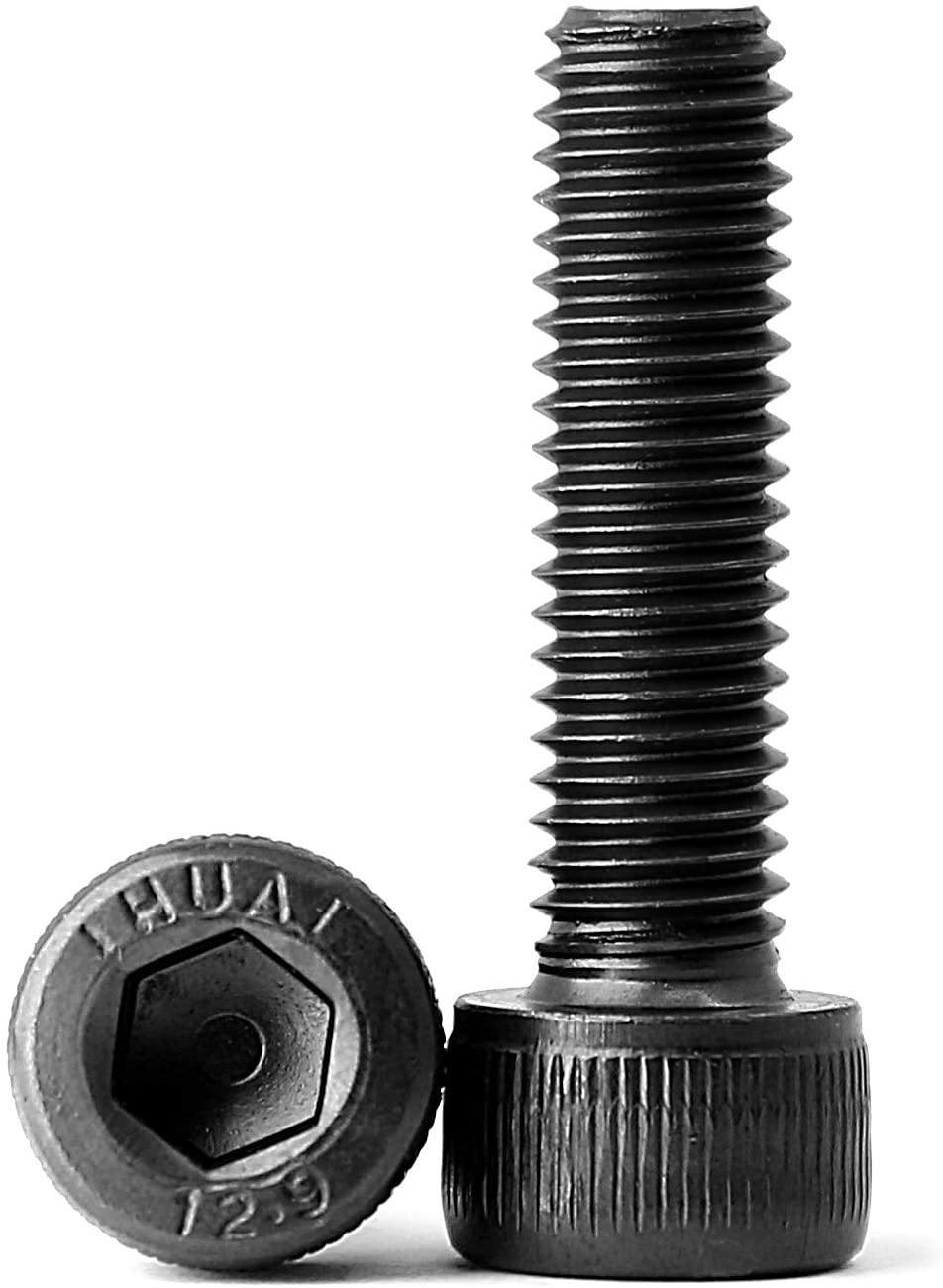 10.9 Grade Alloy Steel Black Oxide Finish M5 x 8mm Button Head Socket Cap Screws Machine Thread Quantity 50 Allen Socket Drive