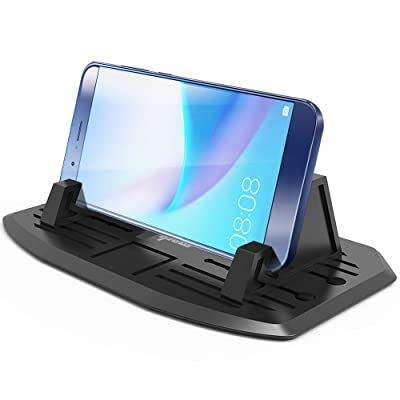 IPOW Anti-Slip Silicone Car Phone Dashboard Pad Mat,Hands-Free Cell Phone Holder