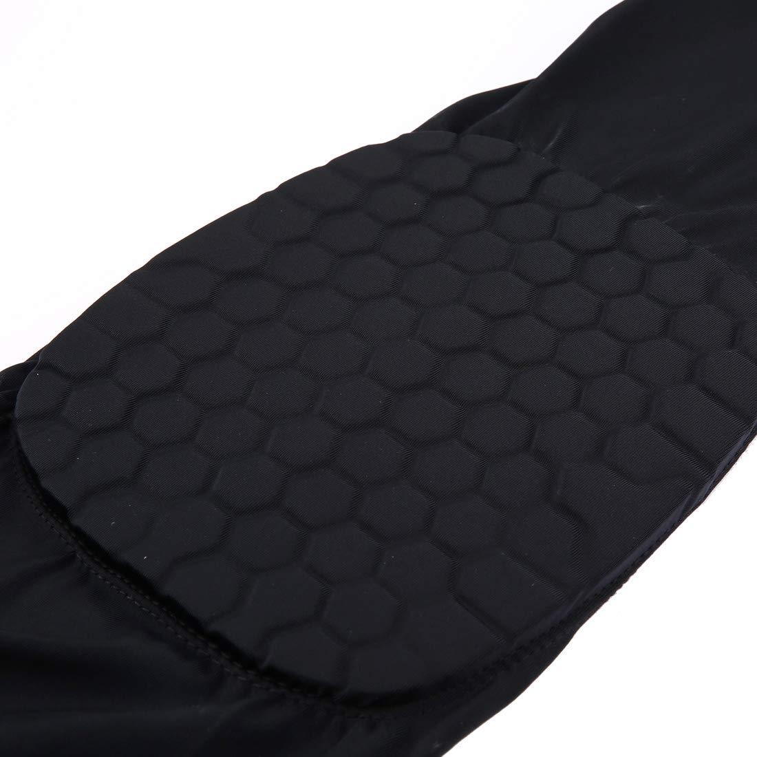 Anstorematealliance Sports&Entertainment Sports&Entertainment Factory 1 PC Beehive Shaped Sports Collision-Resistant Lycra Elastic Knee Support Guard, Long Version, Size: M(Black) (Color : Black) by Anstorematealliance (Image #3)