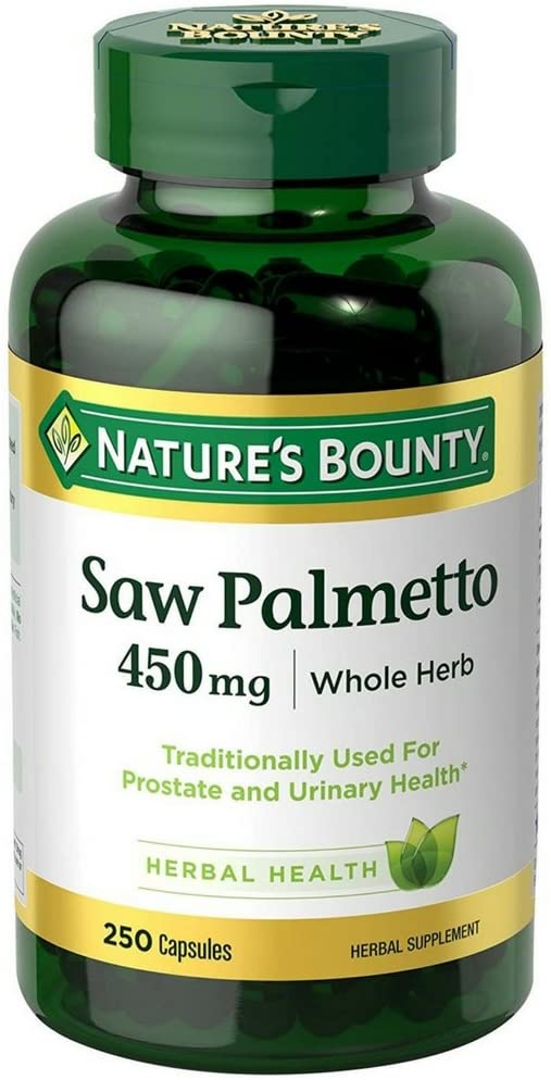 Nature s Bounty Saw Palmetto 450 mg Capsules 250 ea Pack of 3