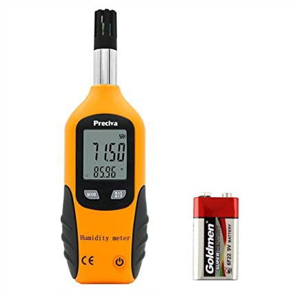 Termometro higrometro digital,Preciva HT-86 higrómetro interior profesional Medidor de Temperatura (-