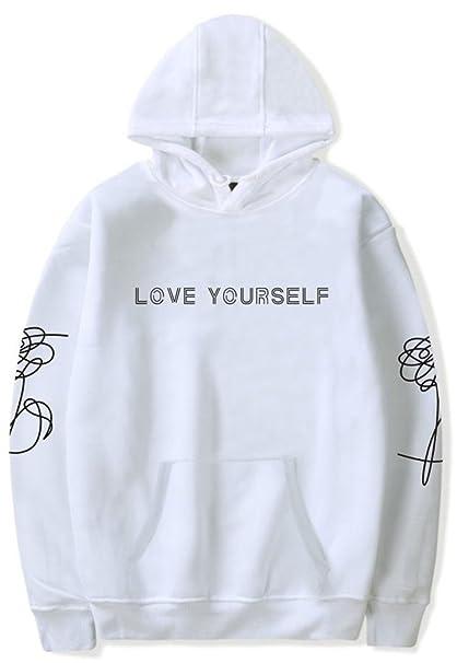 2ba93032afb SERAPHY Unisex BTS Love Yourself BTS Sudadera con Capucha Bangtan Boys  Invierno Sudadera para el Ejercito Suga Jin Jimin Jung Kook J-Hope  Rap-Monster V  ...