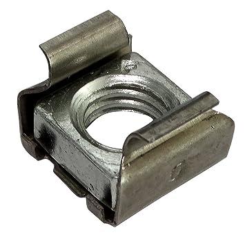 AERZETIX: 5x Tuercas de jaula M10 L16mm H12mm para chapa metalica ...