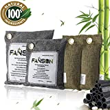 Bamboo Charcoal Air Purifying Bag 100% All Natural Activated Bamboo Charcoal Air Purifying Deodorizer Bags 4 Pack Set   3 Sizes (500g, 200g, 75g x 2)