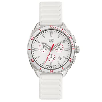 Mercedes-Benz &apos original Mujer Reloj De Pulsera Cronógrafo Sport Fashion Color Blanco/Plata