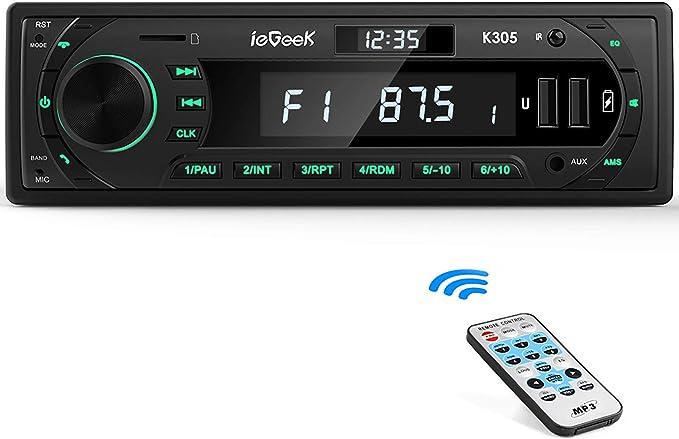 Iegeek Autoradio Bluetooth Stereo 7 Farben 60 W X Elektronik