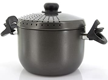 Colador para espaguetis, cocina de pasta con 2 asas de 20 cm de ...