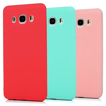 49590bc392f Funda Samsung Galaxy J5 2016, 3Unidades Carcasa Galaxy J5 2016 Silicona  Gel, OUJD Mate