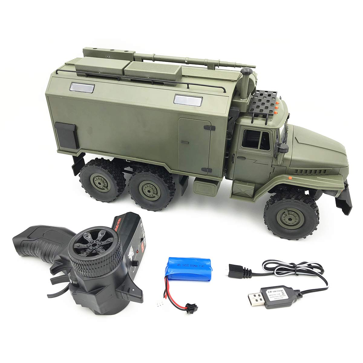 Rtr Type Ocamo Wpl B36 Ural 1 16 2.4G 6Wd Rc Car Military Truck Rock Crawler Command Communication Vehicle Kit Assembly Type