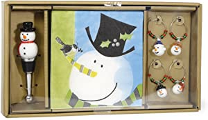 Celebrate the Home Christmas Party Wine Gift Set, Tophat Snowman