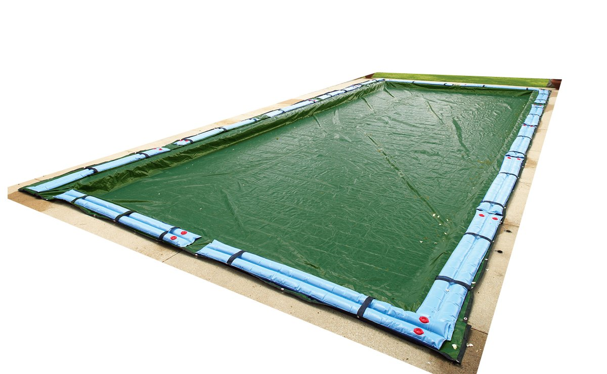 Blue Wave Silver 12-Year 14-ft x 28-ft Rectangular In Ground Pool Winter Cover Blue Heaven BWC842