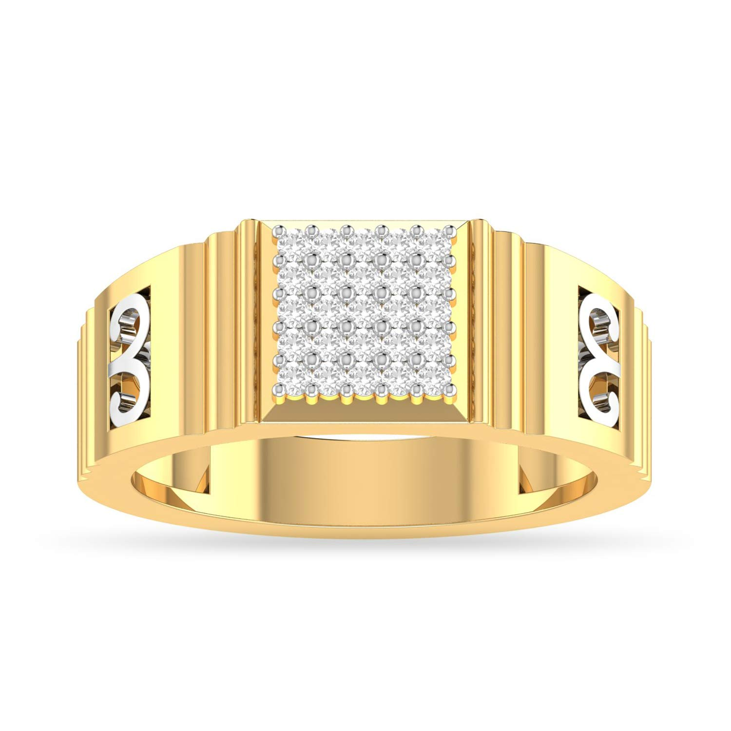 981351a20 Buy PC Jeweller The Adrian 18KT Yellow Gold & Diamond Rings Online at Low  Prices in India | Amazon Jewellery Store - Amazon.in