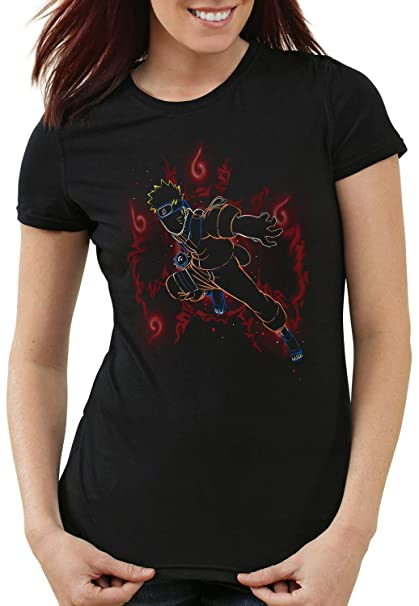 style3 Jinchuriki Camiseta para Mujer T-Shirt Ninja Zorro ...