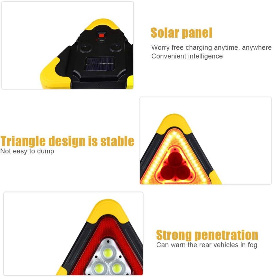 KKmoon Luz de Emergencia Coche,Triangulos de Emergencia,Desglose de Emergencia Se/ñales de Advertencia Lampara de Trabajo Led Recargable