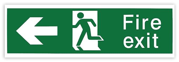 Hi-Glo - Cartel de salida de emergencia (plástico rígido ...