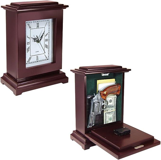 Amazon.com : Peace Keeper Tall Rectangular Working Clock Gun Concealment Diversion Safe : Sports & Outdoors