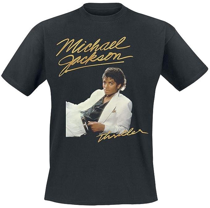 Michael Jackson Thriller Camiseta Negro XL  Amazon.es  Ropa y accesorios 2caa38cea731f