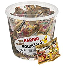 Haribo Gold Bears / Goldbären, 100 Mini Bags, 980 gram Tub