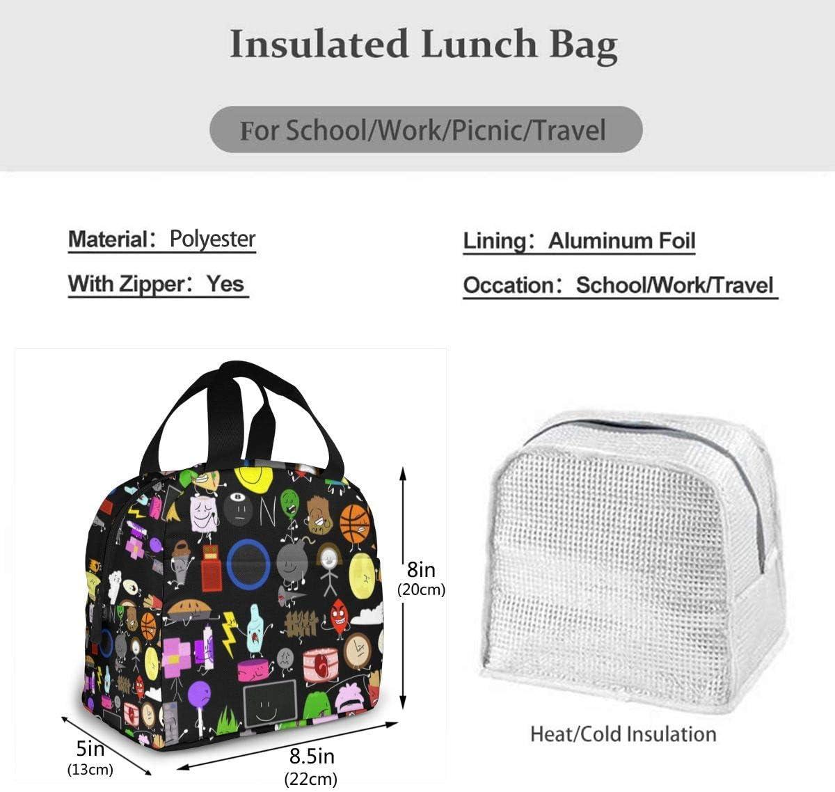 Hdadwy Kampf um Bfdi Schule Handtasche Lunchbox Kulturbeutel f/ür Frauen M/änner Teenager Kinder
