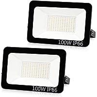 Aurorast Foco LED Exteriore 100W 8000LM, Potente Luces Led Exterior IP66, Luz de Seguridad Blanca Cálida 3000K para…