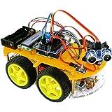 TBS2654 Kit completo Car Smart Robot Bluetooth Arduino con rilevatori di ostacoli - Scheda UNO atmega-328 - DYI - Guida per l'utente con progetti di costruzione e foto