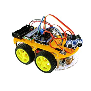 TBS 2654 - Kit Completo Car Smart Robot Arduino con detectores de Obstáculos y Bluetooth -