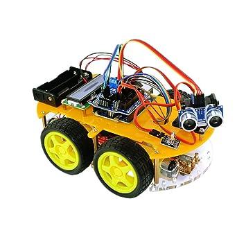 TBS 2654 - Kit Completo Car Smart Robot Arduino con detectores de Obstáculos y Bluetooth -