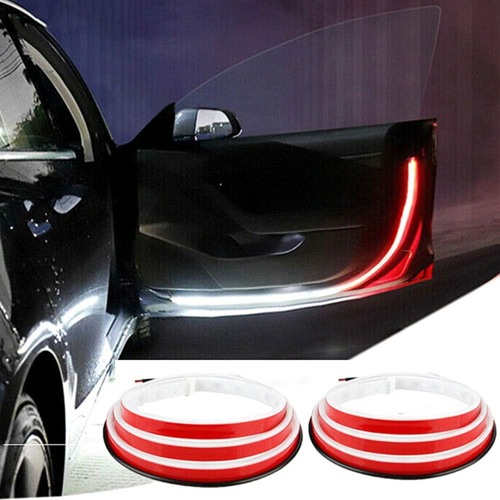 Kollisionsschutz Qiekenao 2 x T/ür-Warnleuchten wasserdicht Anti-Kollisions-Sicherheitswarnlichter LED-Leuchten mit flie/ßendem Blinklicht magnetisch kabellos