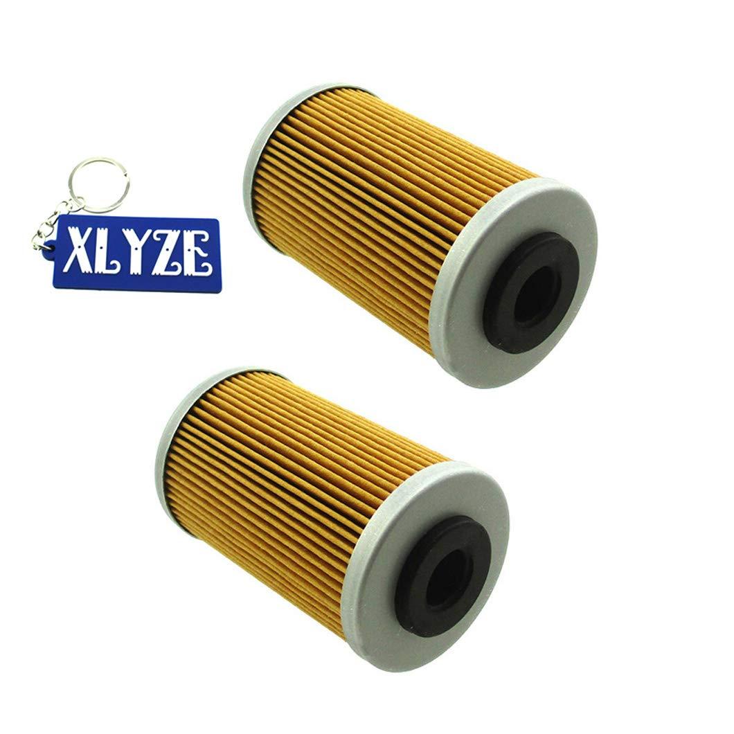 2009 XLYZE Lot de 2 filtres /à huile pour 58038005000 58038005100 Polaris 2520754 Polaris Outlaw 525 IRS 525 2007 2011 Polaris Outlaw 450 MXR 450 2008
