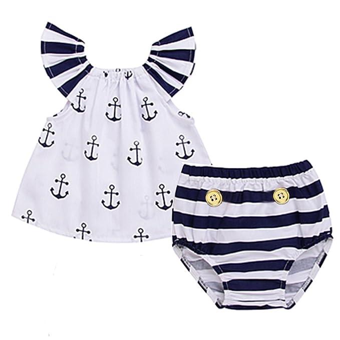 Amazon.com: Conjunto de ropa de bebé para niñas con ...