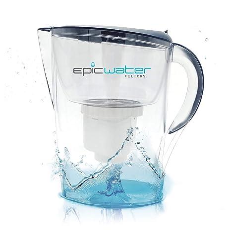 Jarra con filtro de agua Epic Pure, libre de BPA, elimina el fluoruro,