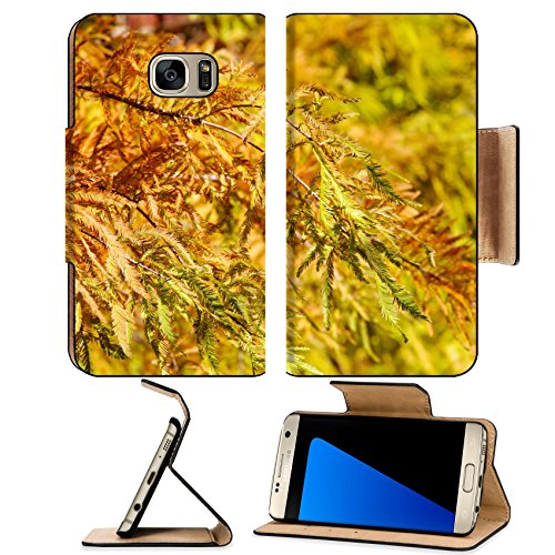 Luxlady Premium Samsung Galaxy S7 Edge Flip Pu Leather Wallet Case Image Id  33784779 Colorful Autumn Bald Cypress Tree Taxodium Distichum