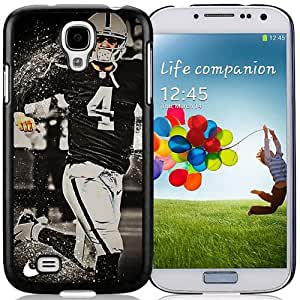 American Football Player Derek Carr Number-4 02 Black Abstract Samsung Galaxy S4 Phone Case
