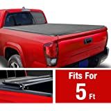 MaxMate Soft Tri-Fold Truck Bed Tonneau Cover Compatible with 2019-2020 Toyota Tacoma | Fleetside 5' Bed