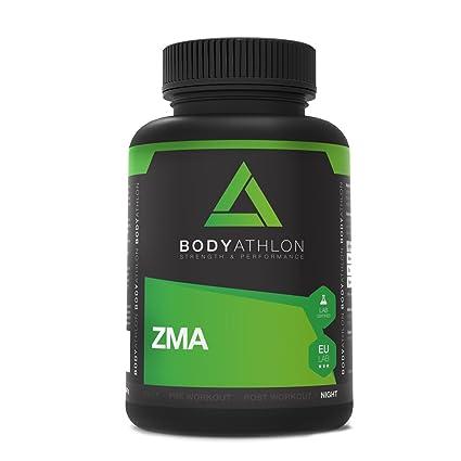 BodyAthlon ZMA - 90 cápsulas Zinc Magnesio y Vitamina B6 - Testosterone Booster
